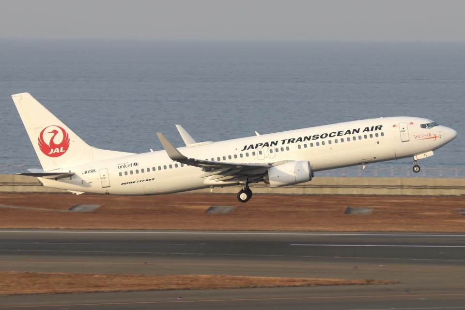 ドガースさんの日本トランスオーシャン航空 Boeing 737-800 (JA11RK) 航空フォト