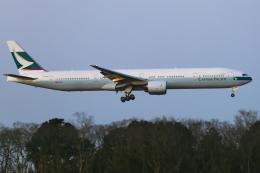 mameshibaさんが、成田国際空港で撮影したキャセイパシフィック航空 777-367の航空フォト(飛行機 写真・画像)