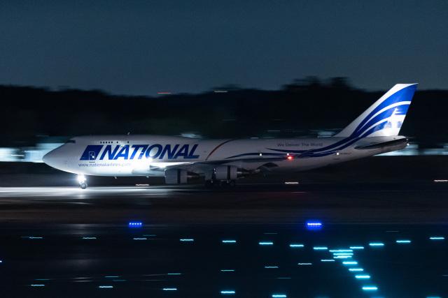やまのクマさんさんが、成田国際空港で撮影したナショナル・エアラインズ 747-412(BCF)の航空フォト(飛行機 写真・画像)