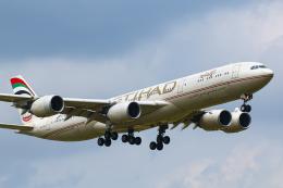 SGR RT 改さんが、成田国際空港で撮影したエティハド航空 A340-541の航空フォト(飛行機 写真・画像)