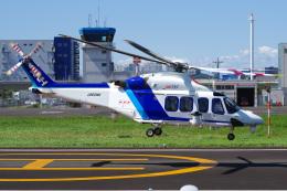 さんごーさんが、東京ヘリポートで撮影したオールニッポンヘリコプター AW139の航空フォト(飛行機 写真・画像)