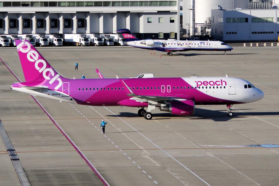 yabyanさんのピーチ Airbus A320 (JA12VA) 航空フォト