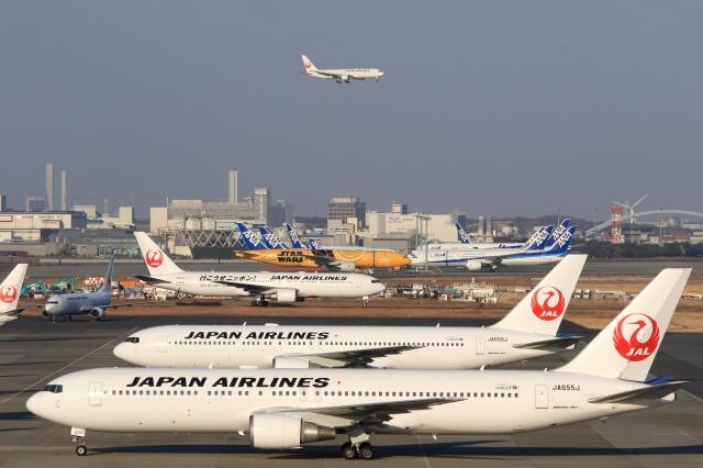 Hiro-hiroさんが、羽田空港で撮影した日本航空 767-346/ERの航空フォト(飛行機 写真・画像)