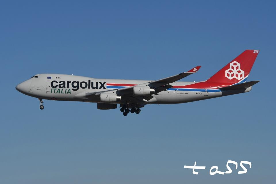 tassさんのカーゴルクス・イタリア Boeing 747-400 (LX-VCV) 航空フォト