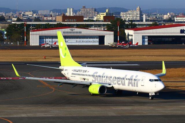 khideさんが、宮崎空港で撮影したソラシド エア 737-81Dの航空フォト(飛行機 写真・画像)
