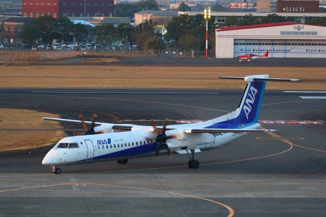 khideさんが、宮崎空港で撮影したANAウイングス DHC-8-402Q Dash 8の航空フォト(飛行機 写真・画像)