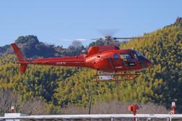 apphgさんが、静岡ヘリポートで撮影したつくば航空 AS350B2 Ecureuilの航空フォト(飛行機 写真・画像)