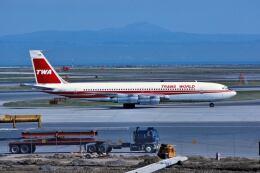 パール大山さんが、サンフランシスコ国際空港で撮影したトランス・ワールド航空 707-331Bの航空フォト(飛行機 写真・画像)