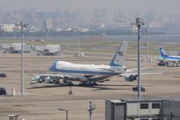 神宮寺ももさんが、羽田空港で撮影したアメリカ空軍 VC-25A (747-2G4B)の航空フォト(飛行機 写真・画像)