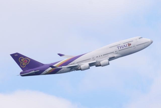 あおいそらさんが、羽田空港で撮影したタイ国際航空 747-4D7の航空フォト(飛行機 写真・画像)