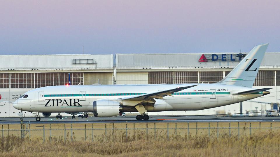 パンダさんのZIPAIR Boeing 787-8 Dreamliner (JA825J) 航空フォト