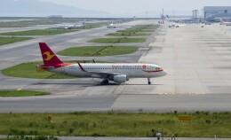 平凡なおっちゃんさんが、関西国際空港で撮影した天津航空 A320-214の航空フォト(飛行機 写真・画像)