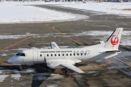 安芸あすかさんが、札幌飛行場で撮影した北海道エアシステム 340B/Plusの航空フォト(飛行機 写真・画像)