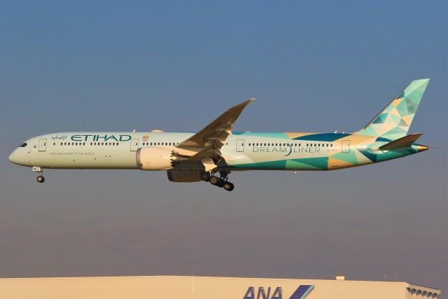 みるぽんたさんが、成田国際空港で撮影したエティハド航空 787-10の航空フォト(飛行機 写真・画像)