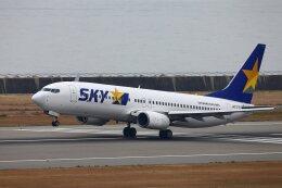 khideさんが、神戸空港で撮影したスカイマーク 737-8Q8の航空フォト(飛行機 写真・画像)