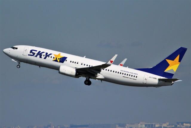 OMAさんが、羽田空港で撮影したスカイマーク 737-81Dの航空フォト(飛行機 写真・画像)
