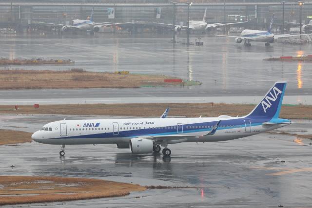 安芸あすかさんが、羽田空港で撮影した全日空 A321-272Nの航空フォト(飛行機 写真・画像)