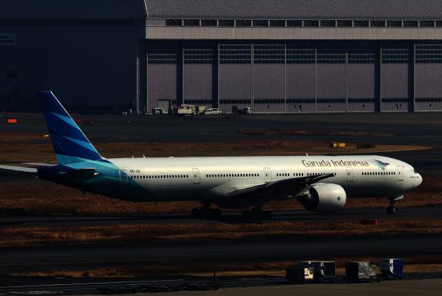 M.airphotoさんが、羽田空港で撮影したガルーダ・インドネシア航空 777-3U3/ERの航空フォト(飛行機 写真・画像)