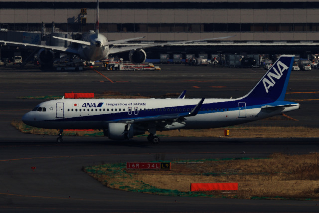 M.airphotoさんが、羽田空港で撮影した全日空 A320-214の航空フォト(飛行機 写真・画像)