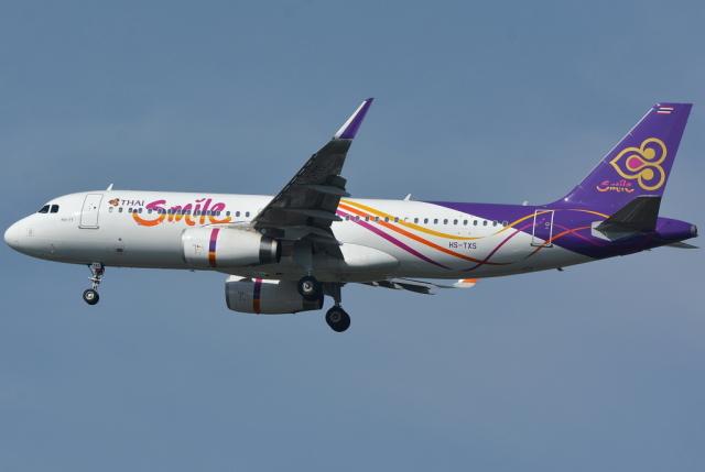jun☆さんが、スワンナプーム国際空港で撮影したタイ・スマイル A320-232の航空フォト(飛行機 写真・画像)