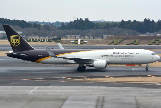 jun☆さんが、成田国際空港で撮影したUPS航空 767-34AF/ERの航空フォト(飛行機 写真・画像)