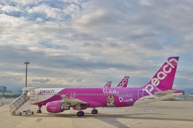 h_wajyaさんが、関西国際空港で撮影したピーチ A320-214の航空フォト(飛行機 写真・画像)
