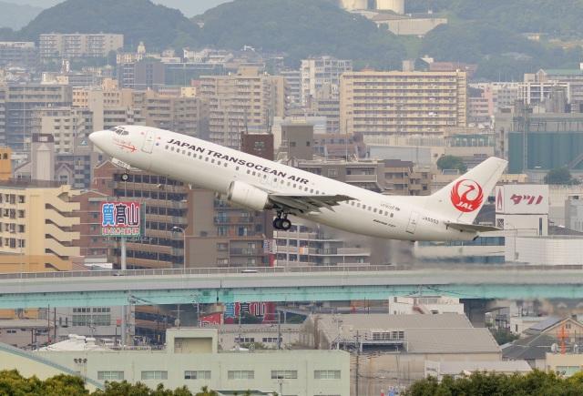 h_wajyaさんが、福岡空港で撮影した日本トランスオーシャン航空 737-446の航空フォト(飛行機 写真・画像)