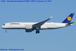 Chofu Spotter Ariaさんが、羽田空港で撮影したルフトハンザドイツ航空 A350-941の航空フォト(飛行機 写真・画像)