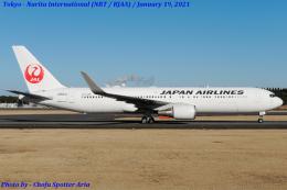 Chofu Spotter Ariaさんが、成田国際空港で撮影した日本航空 767-346/ERの航空フォト(飛行機 写真・画像)