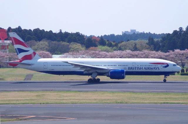 tasho0525さんが、成田国際空港で撮影したブリティッシュ・エアウェイズ 777-236/ERの航空フォト(飛行機 写真・画像)