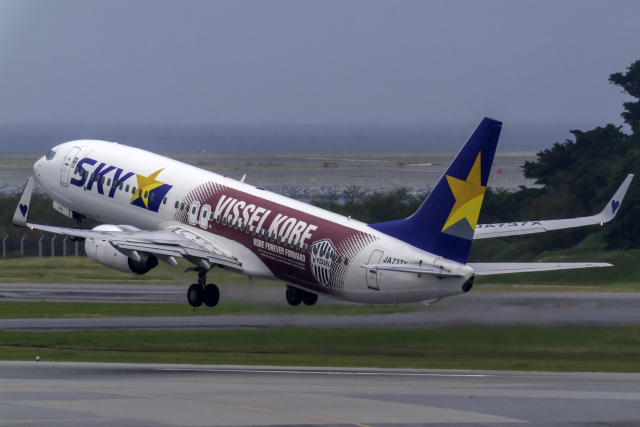 K.Sさんが、那覇空港で撮影したスカイマーク 737-8ALの航空フォト(飛行機 写真・画像)