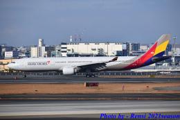 れんしさんが、福岡空港で撮影したアシアナ航空 A330-323Xの航空フォト(飛行機 写真・画像)