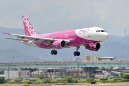h_wajyaさんが、福岡空港で撮影したピーチ A320-214の航空フォト(飛行機 写真・画像)