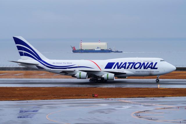 yabyanさんが、中部国際空港で撮影したナショナル・エアラインズ 747-400の航空フォト(飛行機 写真・画像)