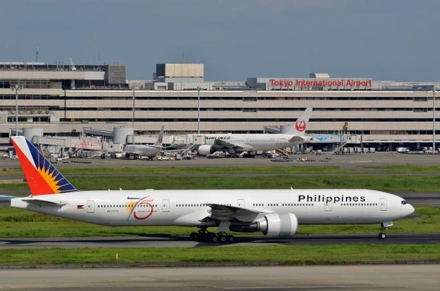 h_wajyaさんが、羽田空港で撮影したフィリピン航空 777-3F6/ERの航空フォト(飛行機 写真・画像)