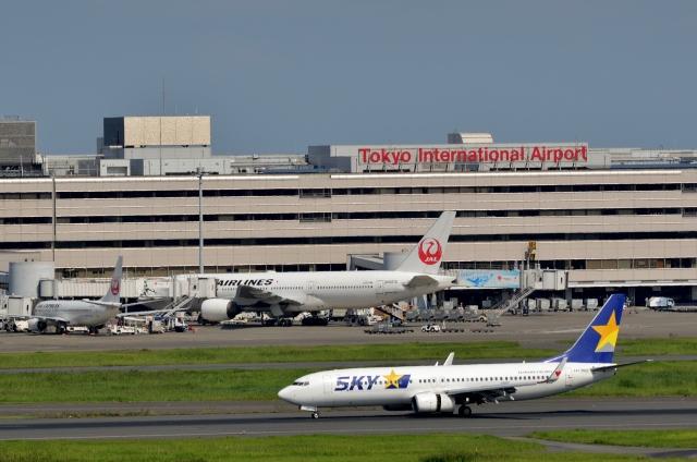h_wajyaさんが、羽田空港で撮影したスカイマーク 737-81Dの航空フォト(飛行機 写真・画像)