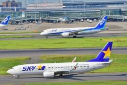 Hiro Satoさんが、羽田空港で撮影したスカイマーク 737-86Nの航空フォト(飛行機 写真・画像)