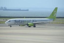 kumagorouさんが、中部国際空港で撮影したソラシド エア 737-81Dの航空フォト(飛行機 写真・画像)