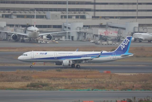 OS52さんが、羽田空港で撮影した全日空 A321-211の航空フォト(飛行機 写真・画像)