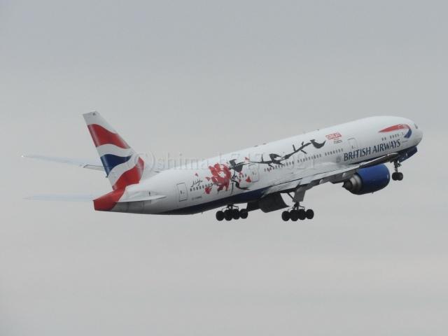 しまb747さんが、成田国際空港で撮影したブリティッシュ・エアウェイズ 777-236/ERの航空フォト(飛行機 写真・画像)