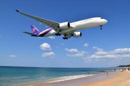 こじゆきさんが、プーケット国際空港で撮影したタイ国際航空 A350-941の航空フォト(飛行機 写真・画像)