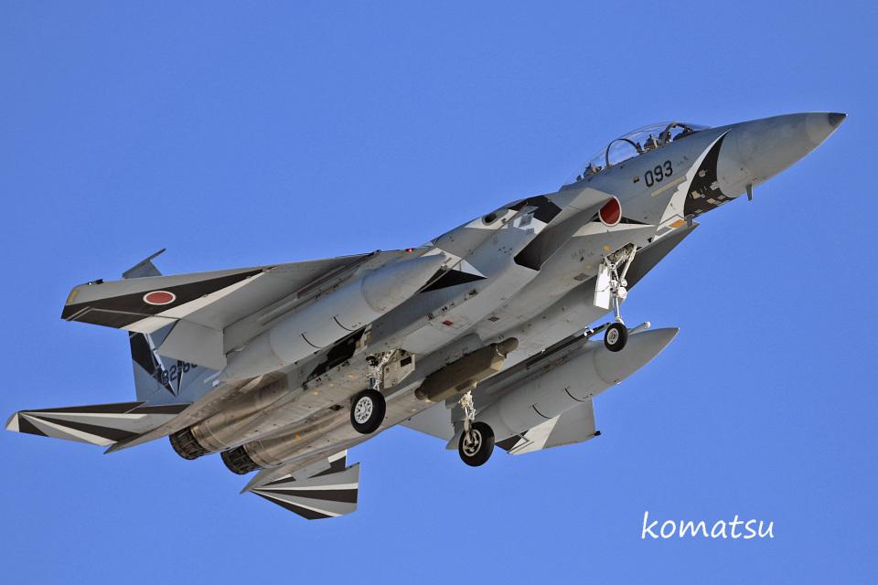 わかすぎさんの航空自衛隊 Mitsubishi F-15DJ Eagle (82-8093) 航空フォト