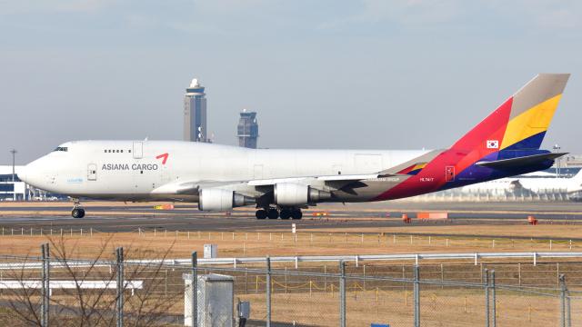 saoya_saodakeさんが、成田国際空港で撮影したアシアナ航空 747-48EM(BDSF)の航空フォト(飛行機 写真・画像)