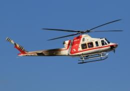 LOTUSさんが、八尾空港で撮影した朝日航洋 412EPの航空フォト(飛行機 写真・画像)
