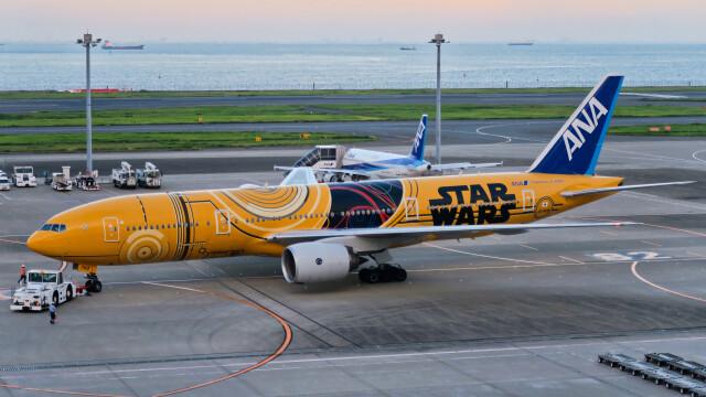 让开我先飞さんが、羽田空港で撮影した全日空 777-281/ERの航空フォト(飛行機 写真・画像)