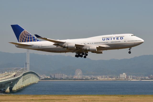 Deepさんが、関西国際空港で撮影したユナイテッド航空 747-422の航空フォト(飛行機 写真・画像)