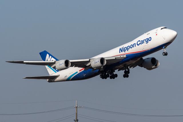 みぐさんが、成田国際空港で撮影した日本貨物航空 747-8KZF/SCDの航空フォト(飛行機 写真・画像)