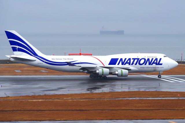 yabyanさんが、中部国際空港で撮影したナショナル・エアラインズ 747-412(BCF)の航空フォト(飛行機 写真・画像)