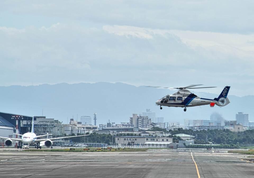 平凡なおっちゃんさんのオールニッポンヘリコプター Aerospatiale SA365/AS365/565 Dauphin 2 (JA61NH) 航空フォト