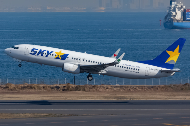 KoshiTomoさんが、羽田空港で撮影したスカイマーク 737-82Yの航空フォト(飛行機 写真・画像)